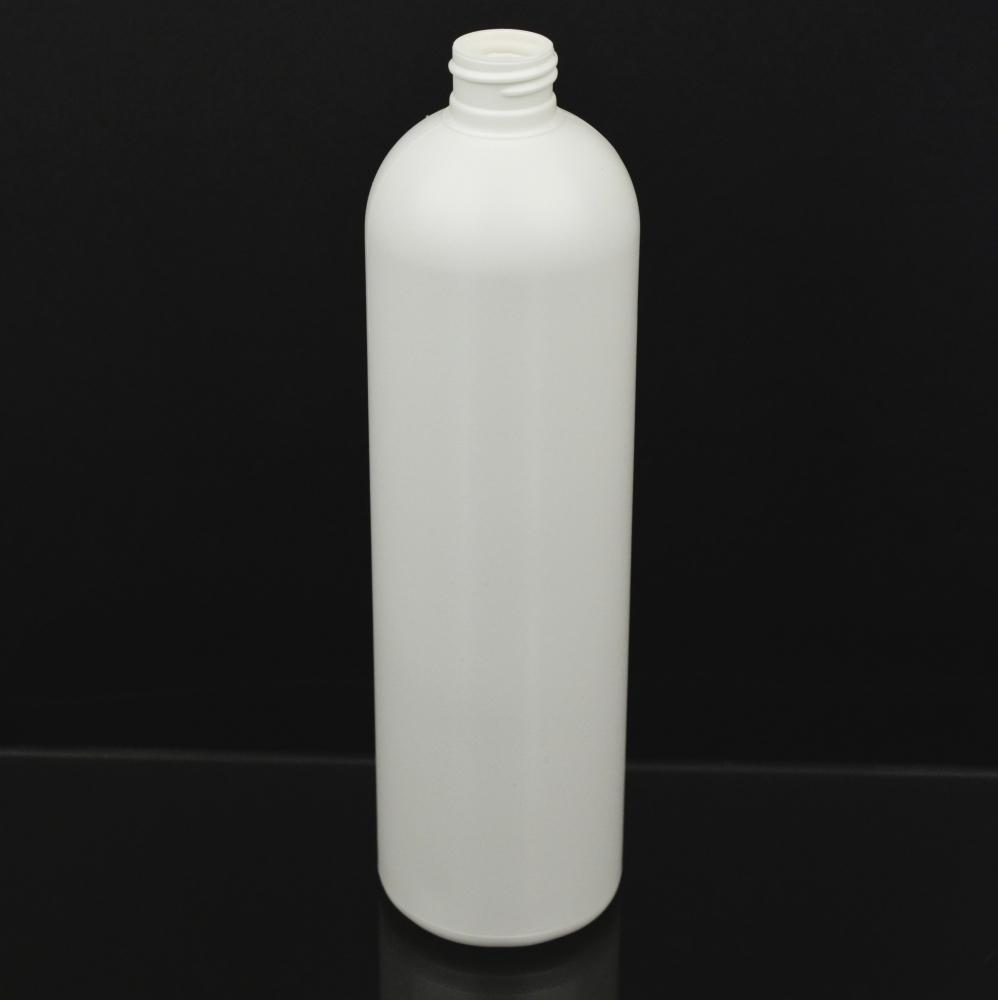 16 oz 24/410 Imperial Round White HDPE Bottle