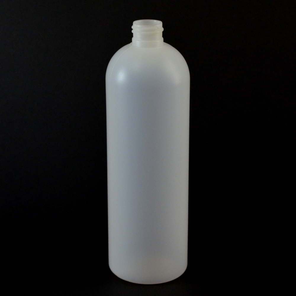 16 oz 24/410 Royalty Round Natural HDPE Bottle