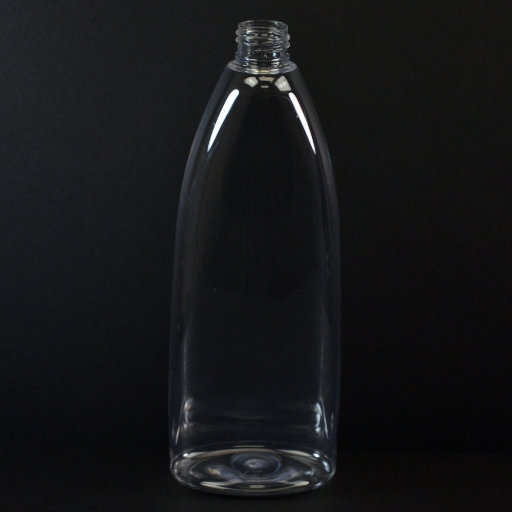 16 oz 24/410 Tear Oval Clear PET Bottle