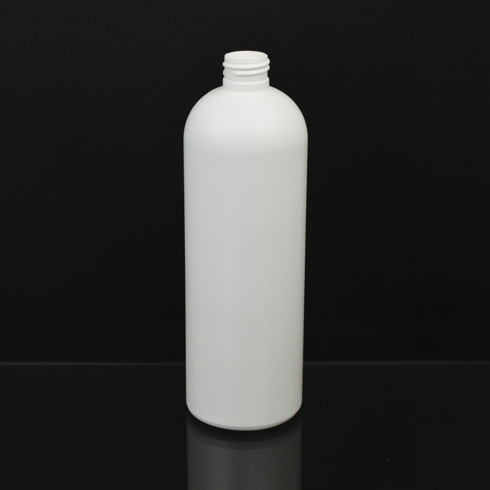 16 oz 24/410 Royalty Round White HDPE Bottle