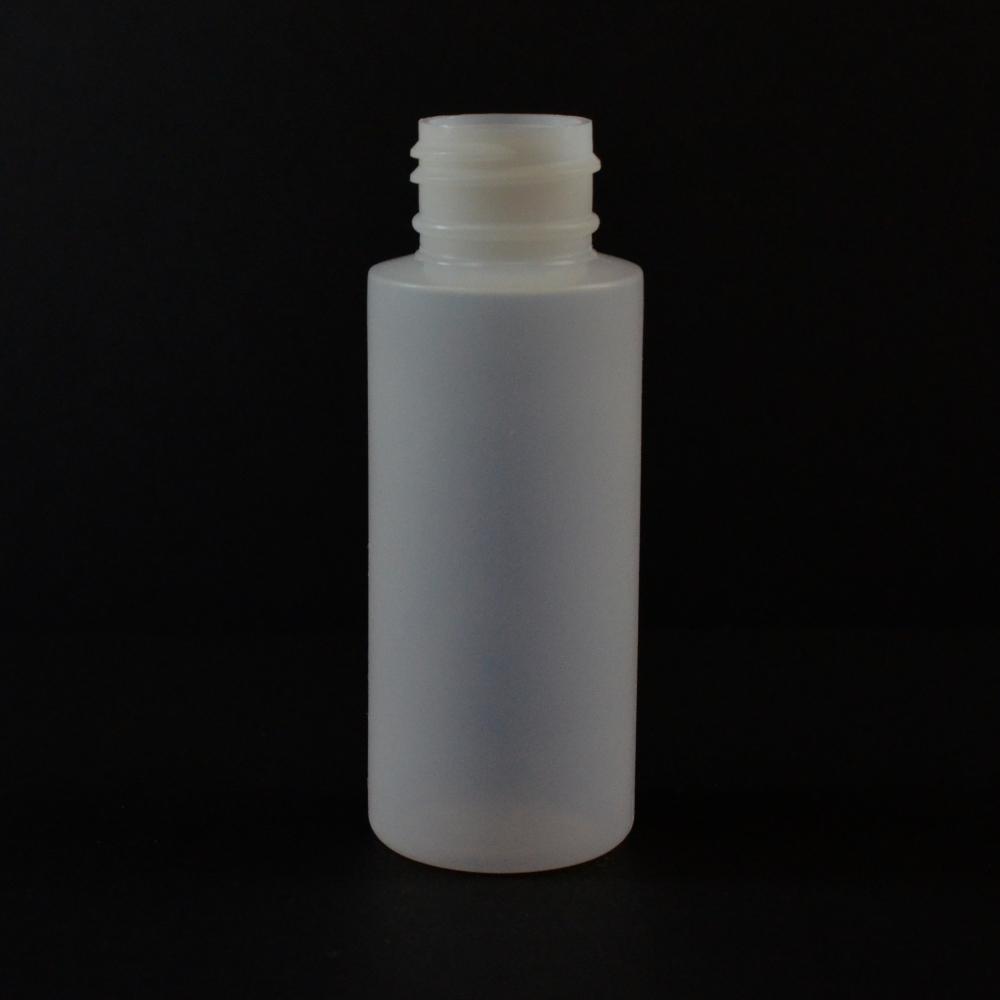 2 oz 24/410 Cylinder Round Natural LDPE Bottle