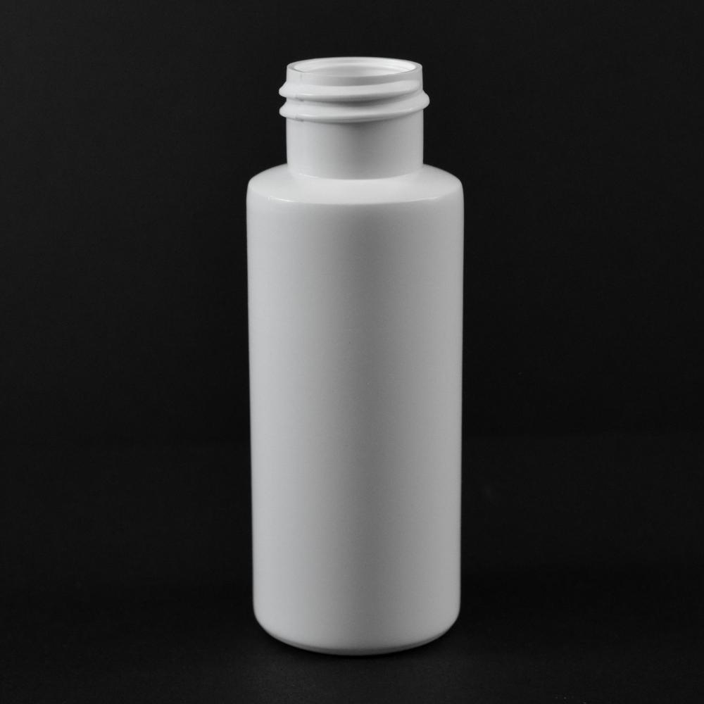 2 oz 24/410 Cylinder Round White HDPE Bottle