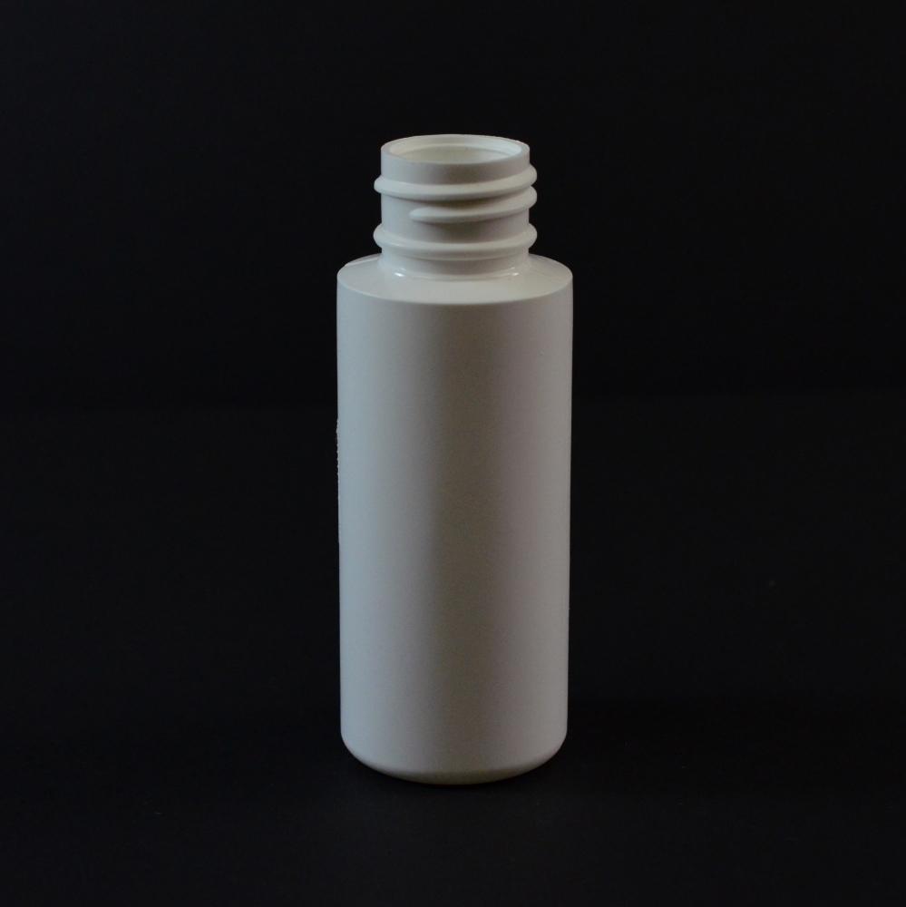 2 oz 24/410 Cylinder Round White LDPE Bottle