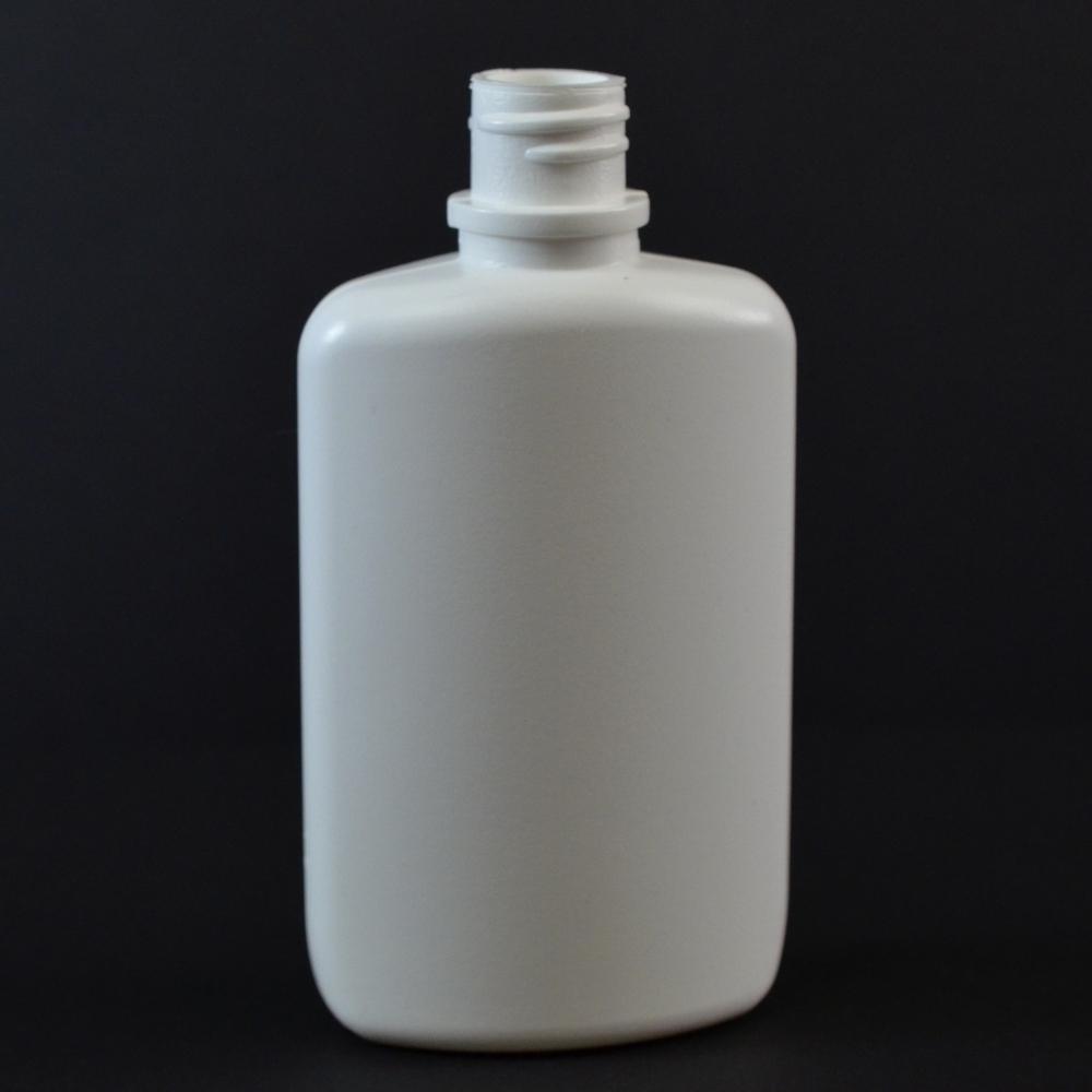 2 oz 18/410 W/R Drug Oval White HDPE Bottle