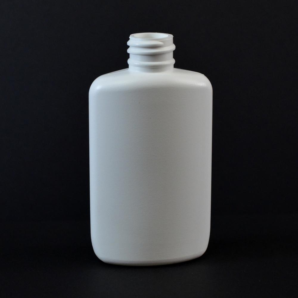 2 oz 20/410 Drug Oval White HDPE Bottle