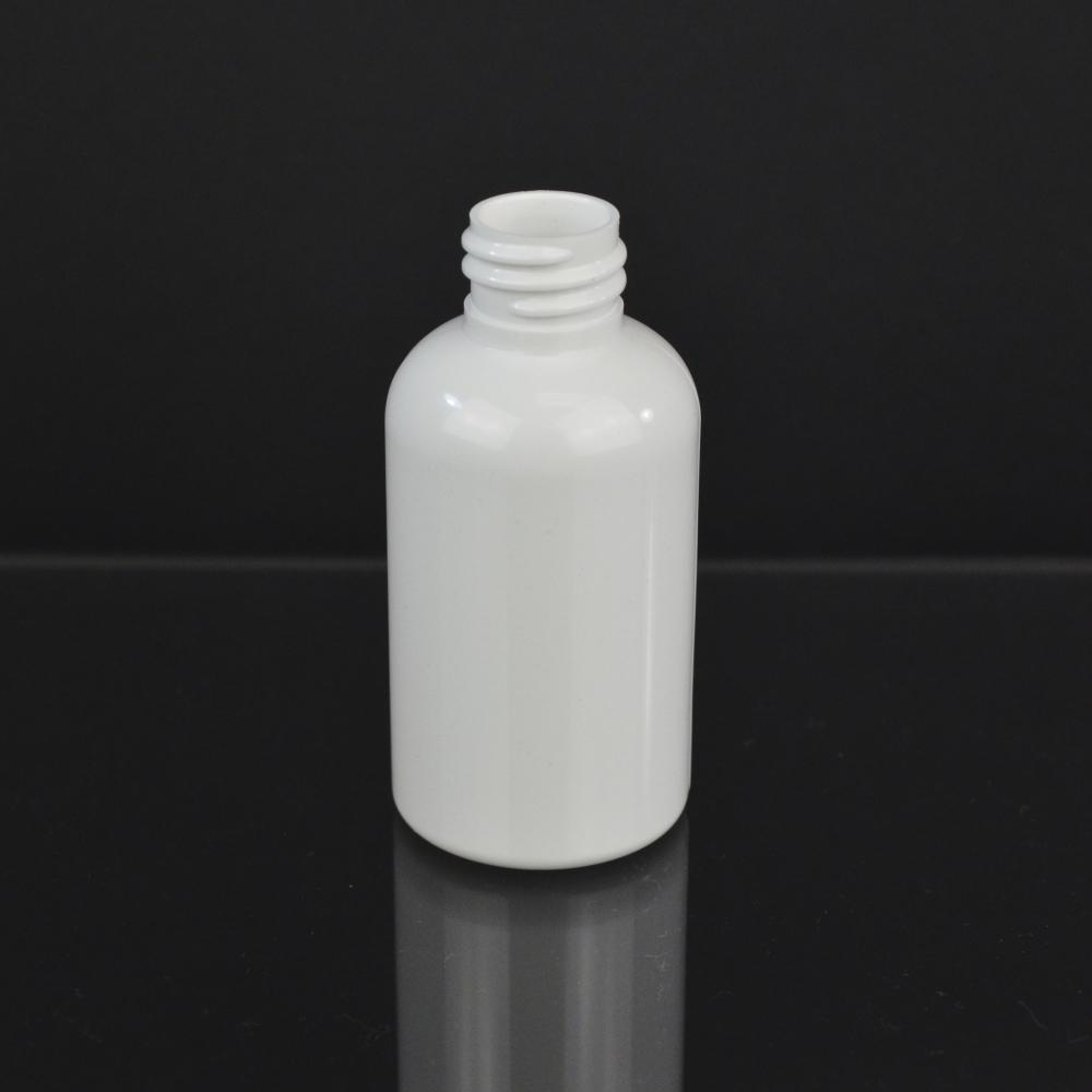 2 oz 20/410 Squat Boston Round White PET Bottle
