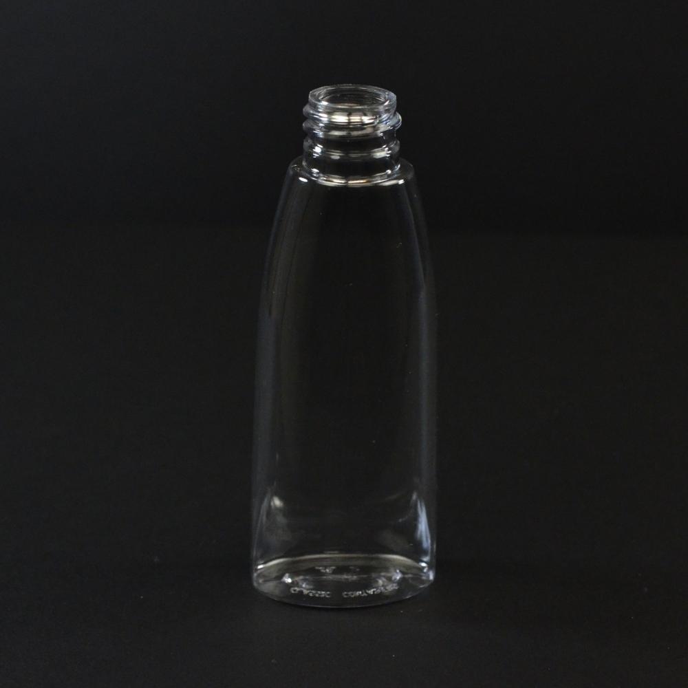2 oz 20/410 Tear Oval Clear PET Bottle