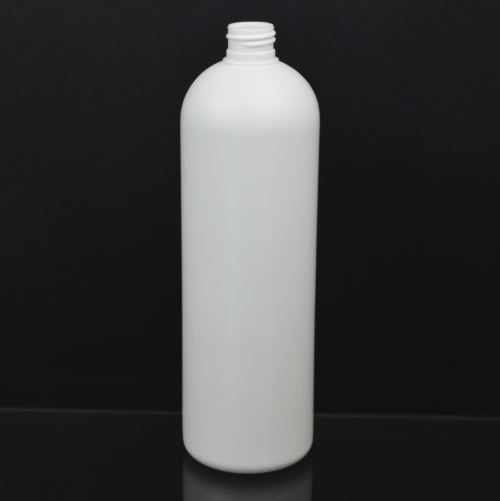 20 oz 24/410 Royalty Round White HDPE Bottle