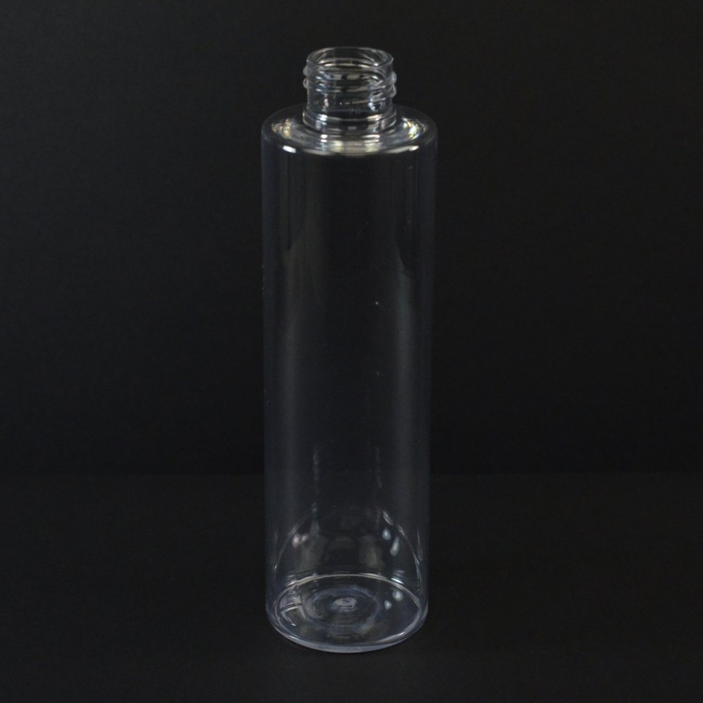 200ML 24/410 Cylinder Round Clear PET Bottle