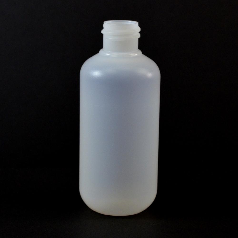 3 oz 20/410 Boston Round Natural HDPE Bottle