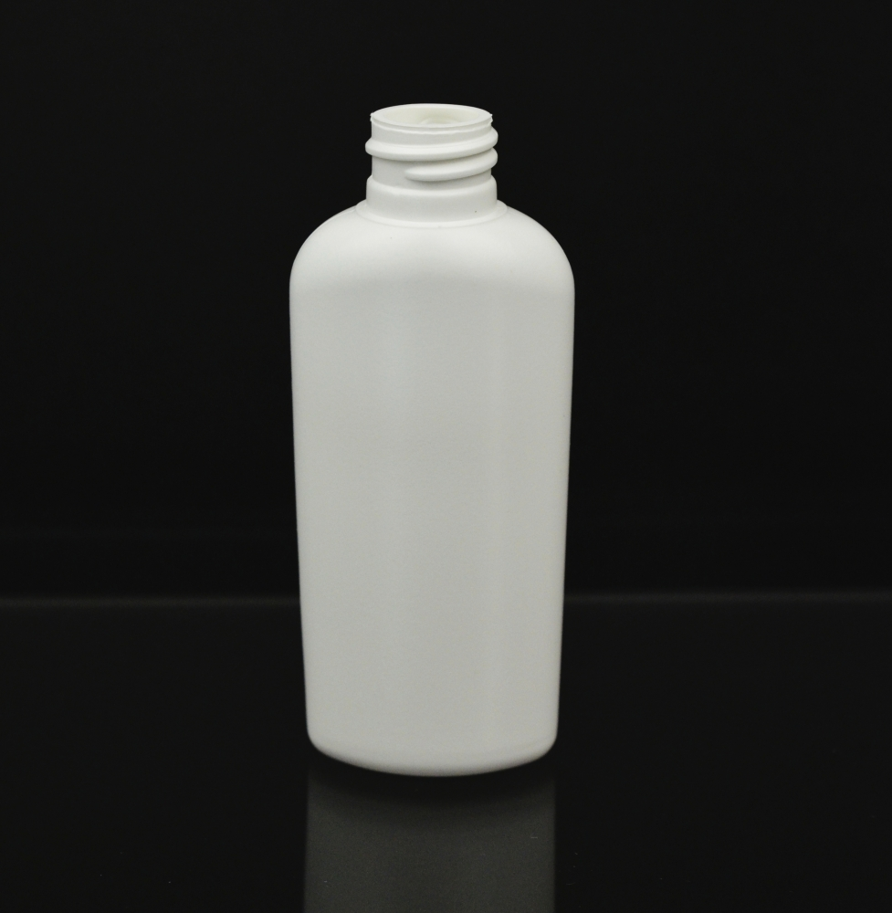 4 oz 20/410 Classic Oval White HDPE Bottle