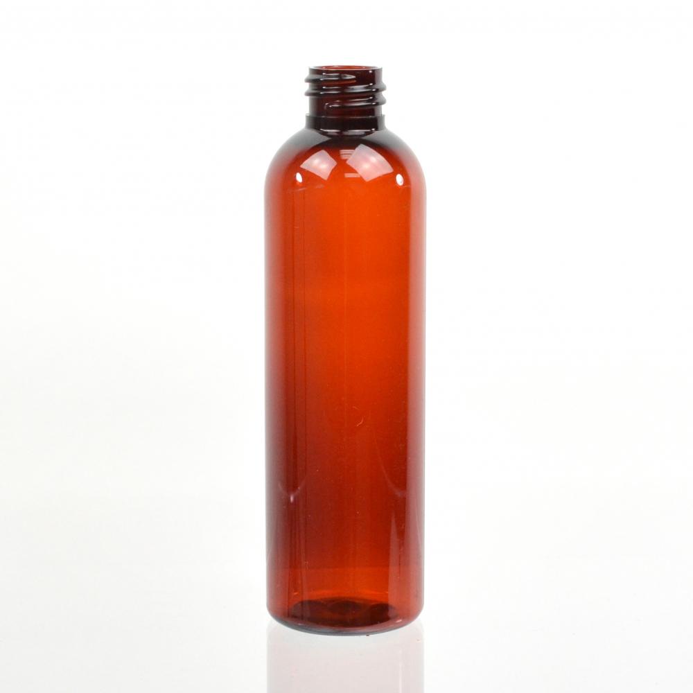 4 oz 20/410 Cosmo Round Amber PET Bottle