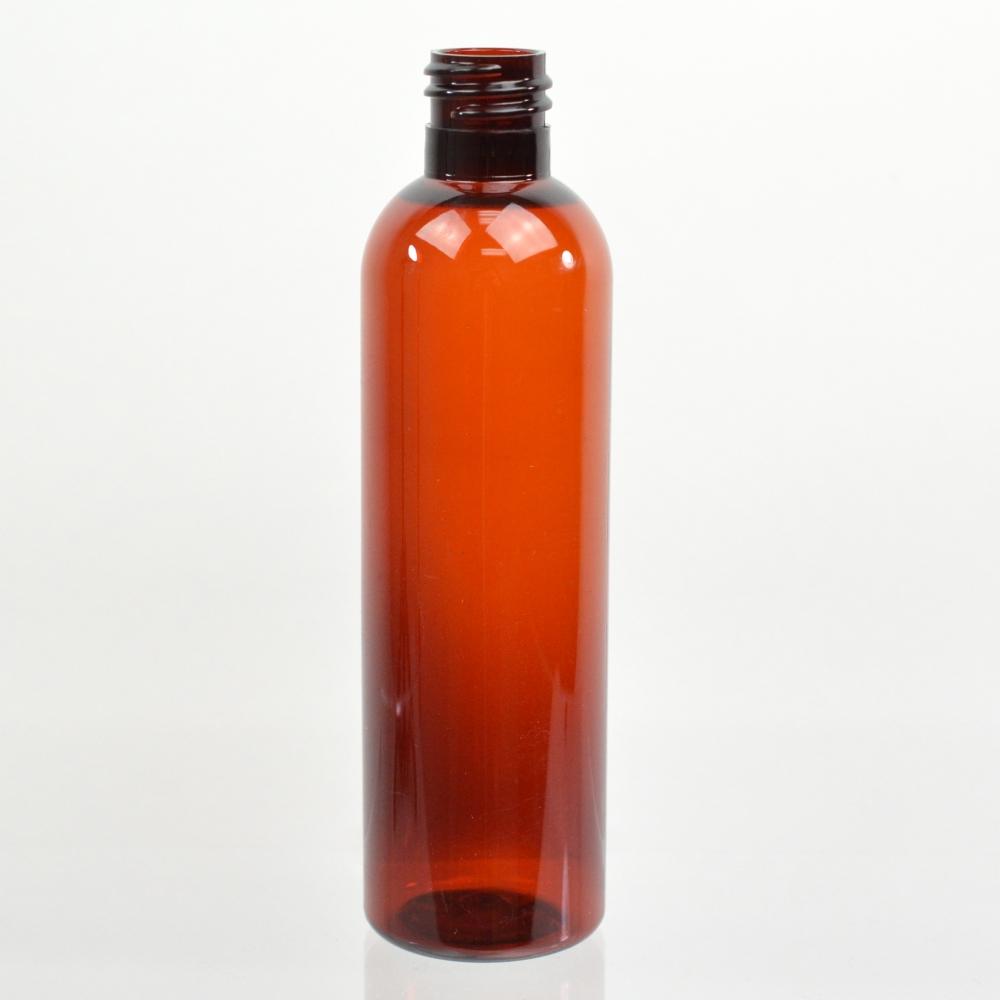 4 oz 20/415 Cosmo Round Amber PET Bottle
