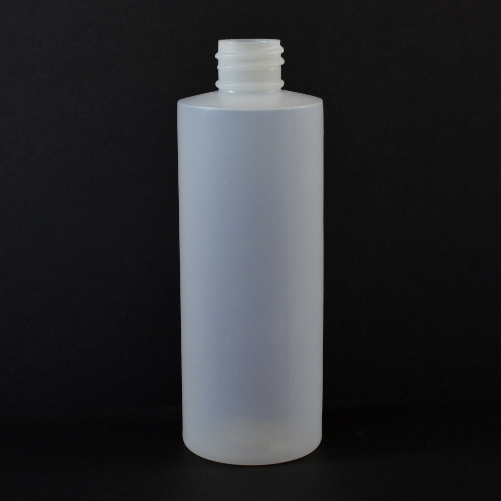 4 oz 20/410 Cylinder Round Natural HDPE Bottle