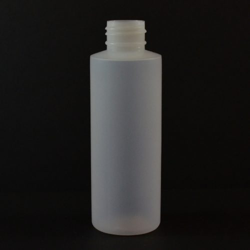 4 oz 24/410 Cylinder Round Natural LDPE Bottle