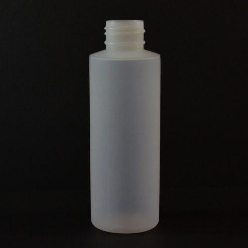 4 oz 24/410 Cylinder Round Natural LDPE Bottle