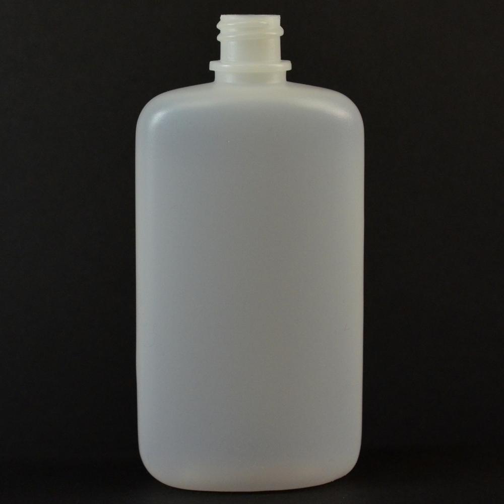 4 oz 18/410 W/R Drug Oval Natural HDPE Bottle