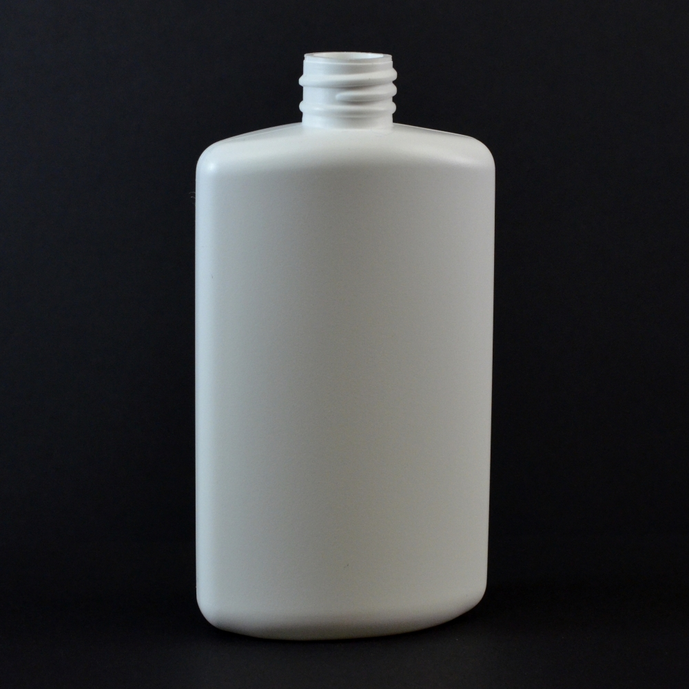 4 oz 20/410 Drug Oval White HDPE Bottle