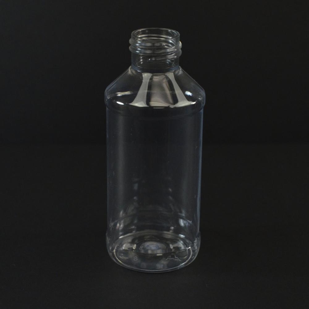4 oz 24/410 Modern Round Clear PET Bottle