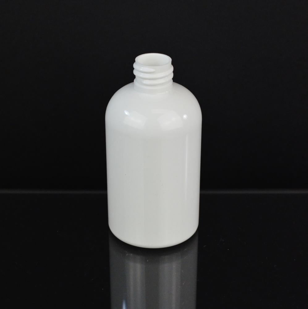 4 oz 20/410 Squat Boston Round White PET Bottle