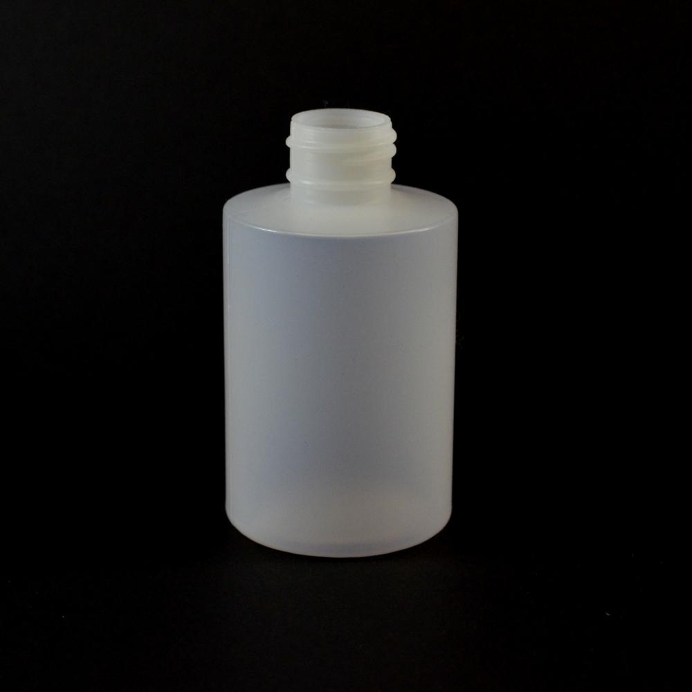 4 oz 24/410 Squat Cylinder Round Natural HDPE Bottle
