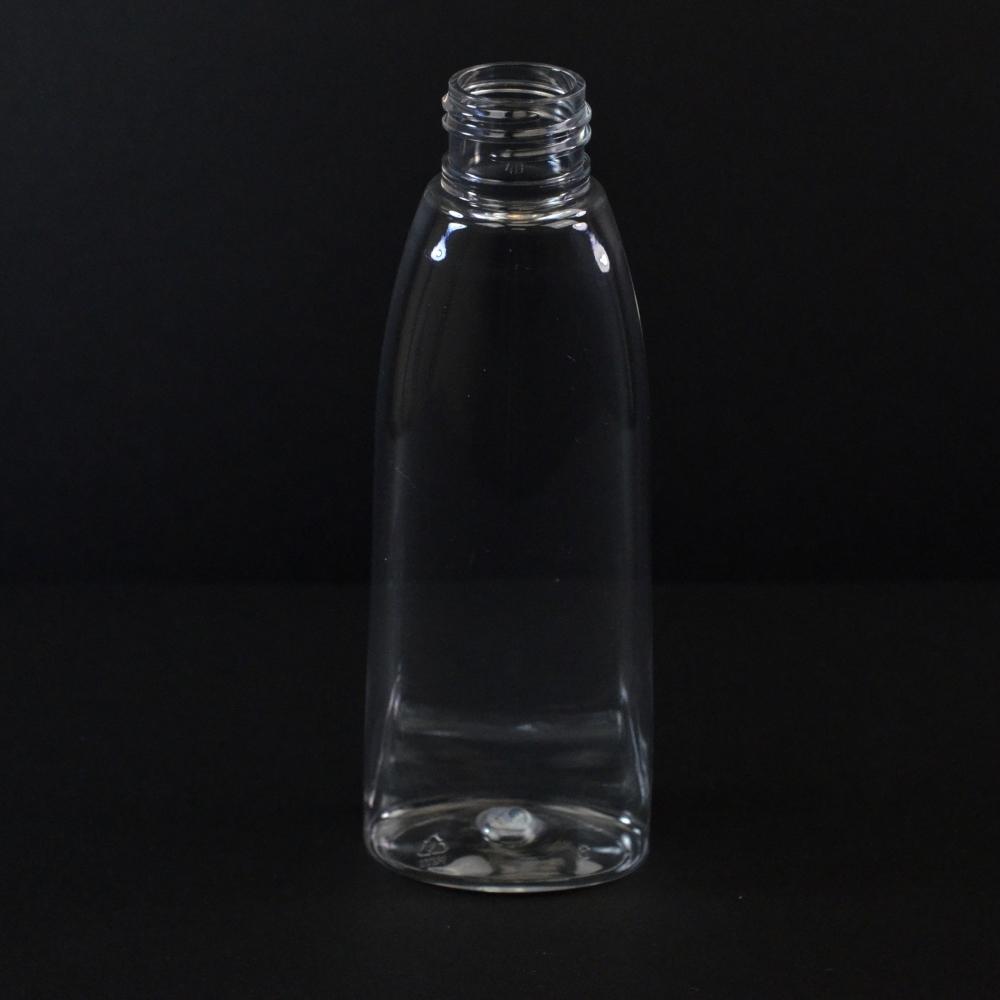 4 oz 24/410 Tear Oval Clear PET Bottle