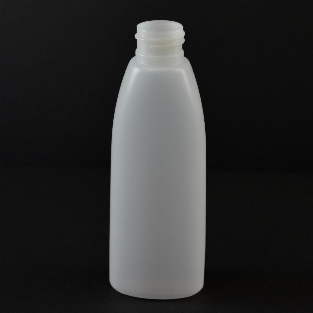 4 oz 24/410 Teardrop Oval Natural HDPE Bottle