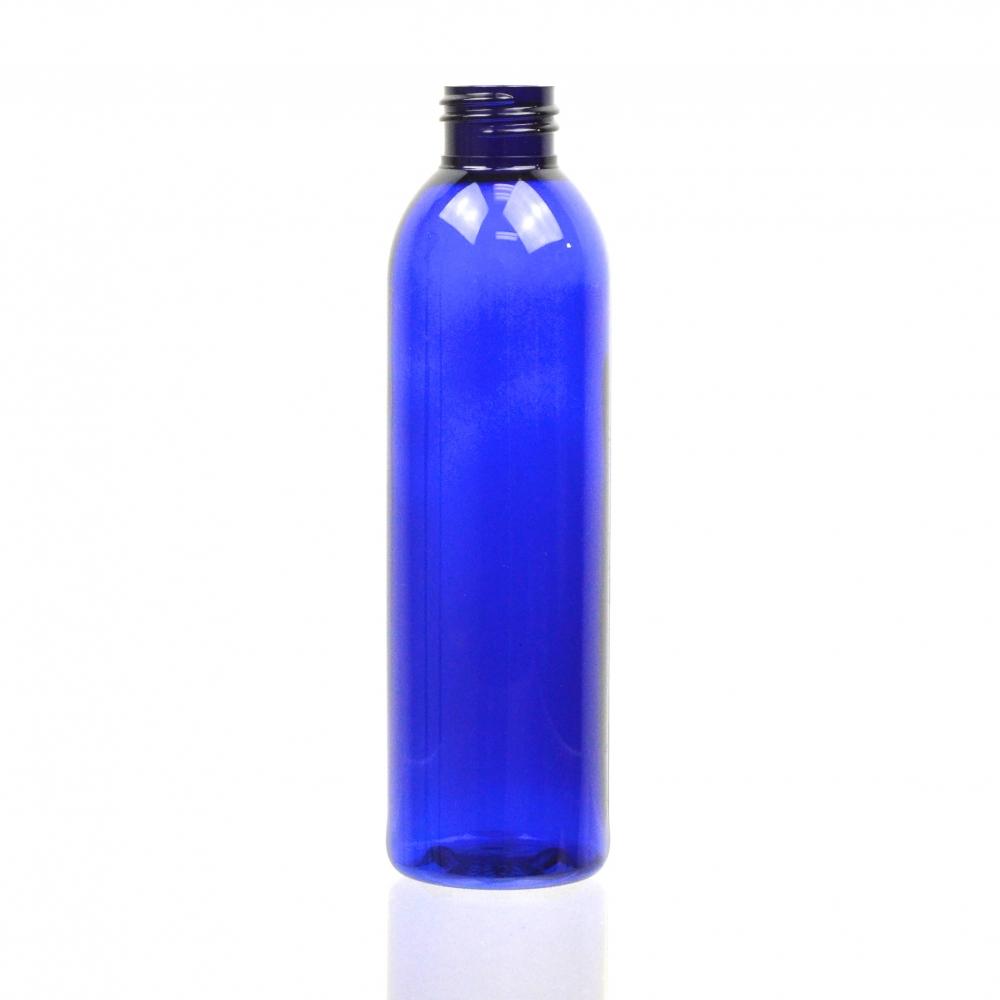 6 oz 24/410 Cosmo Round Cobalt PET Bottle
