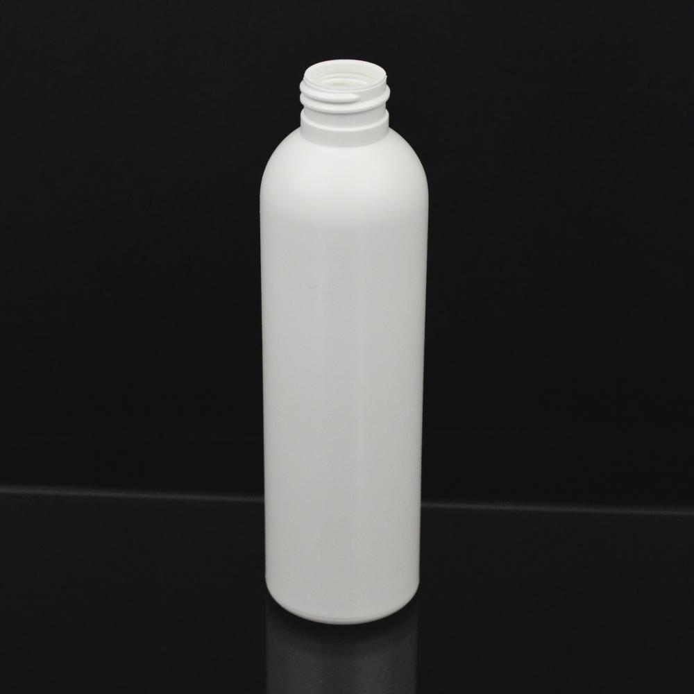 6 oz 24/410 Imperial Round White HDPE Bottle