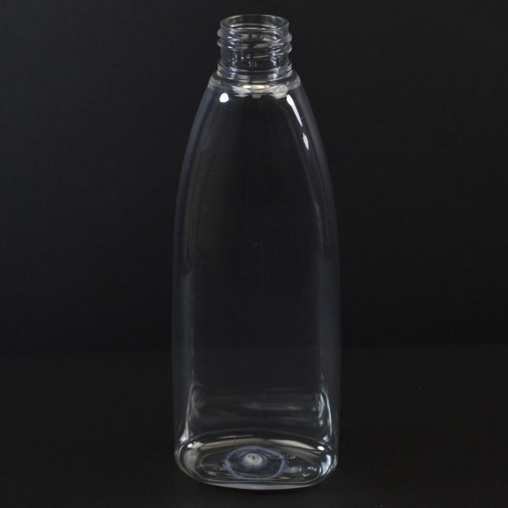 6 oz 24/410 Tear Oval Clear PET Bottle