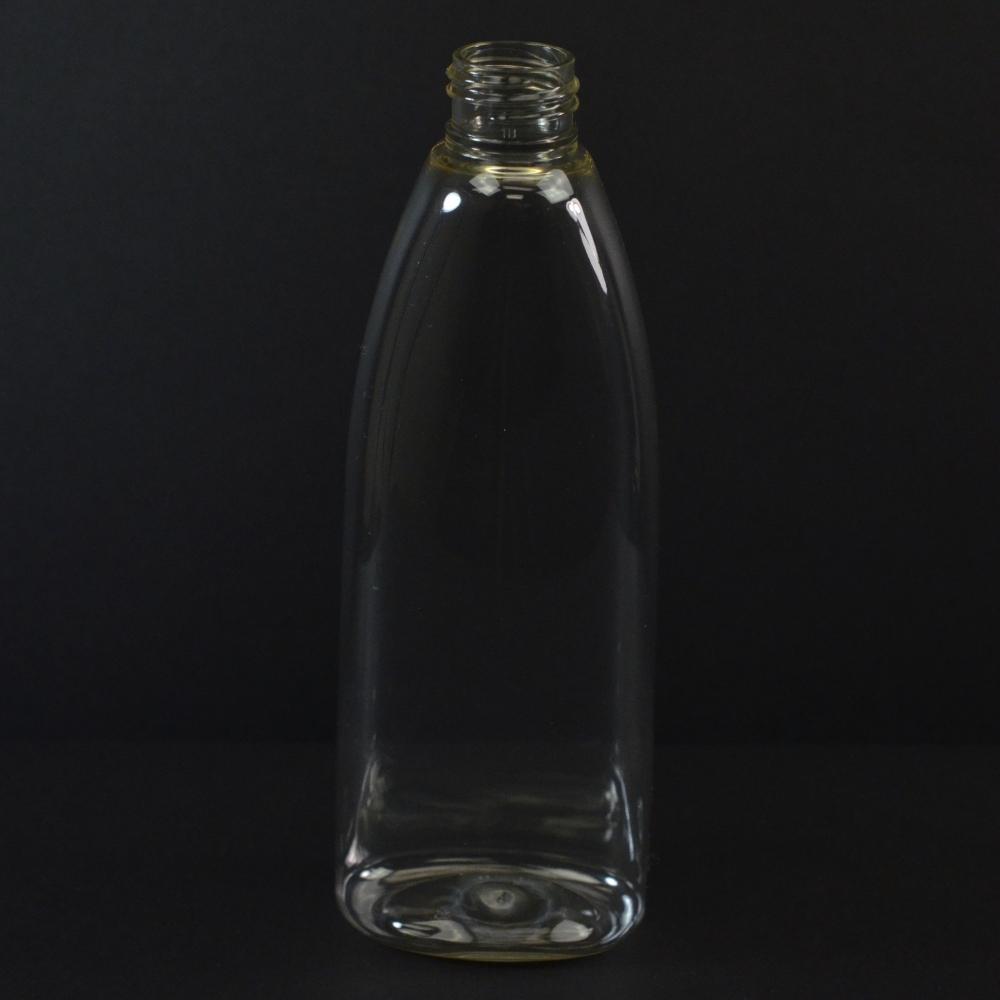 6 oz 24/410 Tear Oval Clear PETG Bottle