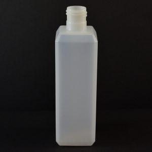 Plastic Bottle 8 oz. Beveled Square HDPE Natural 24-415_714