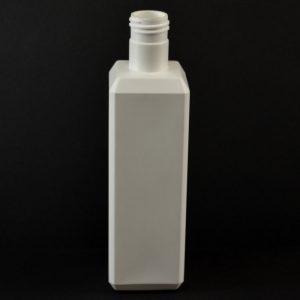 Plastic Bottle 8 oz. Beveled Square HDPE White 24-415_715