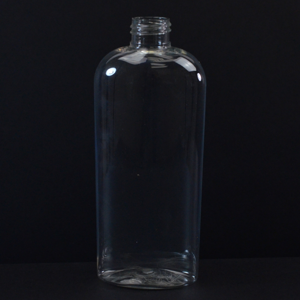 8 oz 24/410 Cosmoval Clear PET Bottle