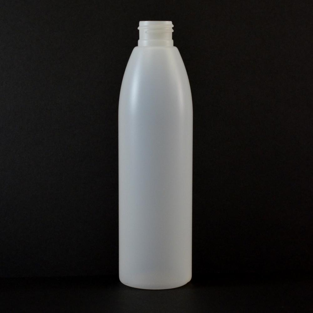 8 oz 24/410 Evolution Round Natural HDPE Bottle