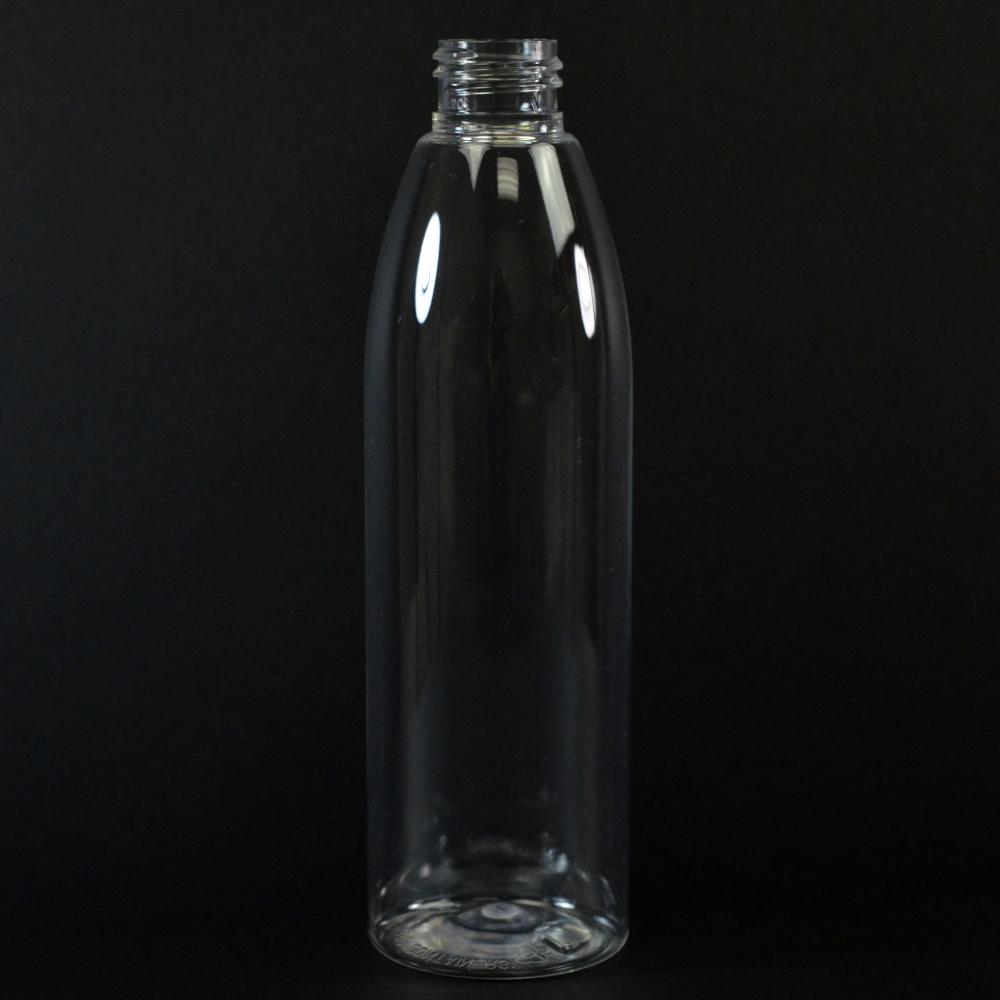 8 oz 24/410 Evolution Round Clear PET Bottle