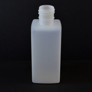 Plastic Bottle 8 oz. Oblong Square HDPE Natural 28-415_716