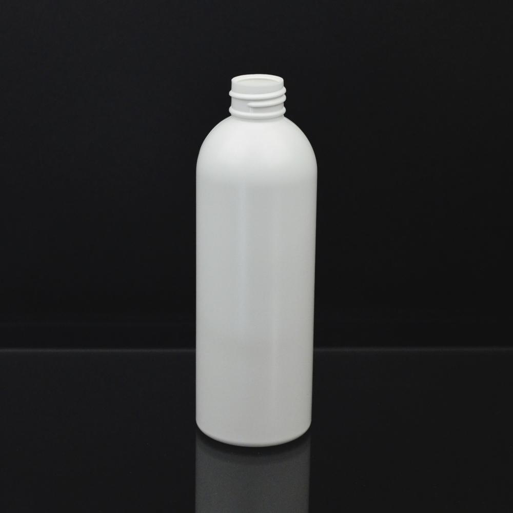 8 oz 24/410 Royalty Round White HDPE Bottle