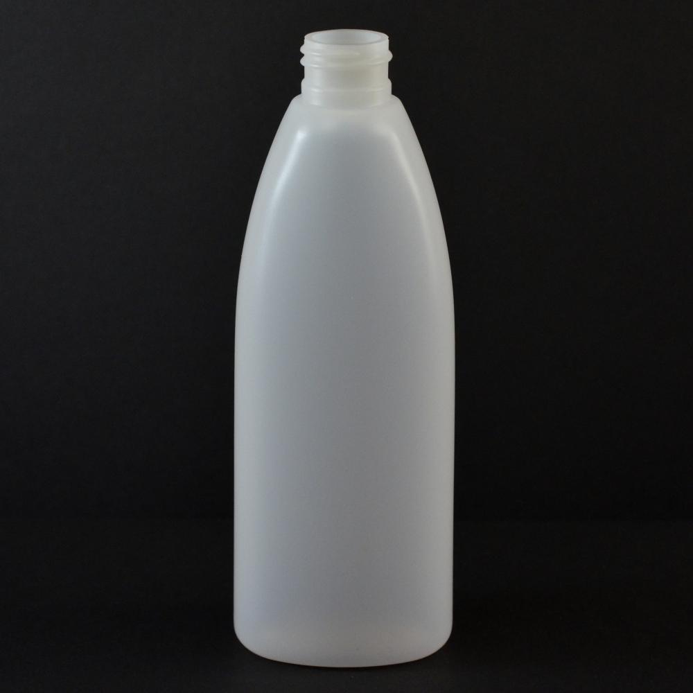 8 oz 24/410 Teardrop Oval Natural HDPE Bottle