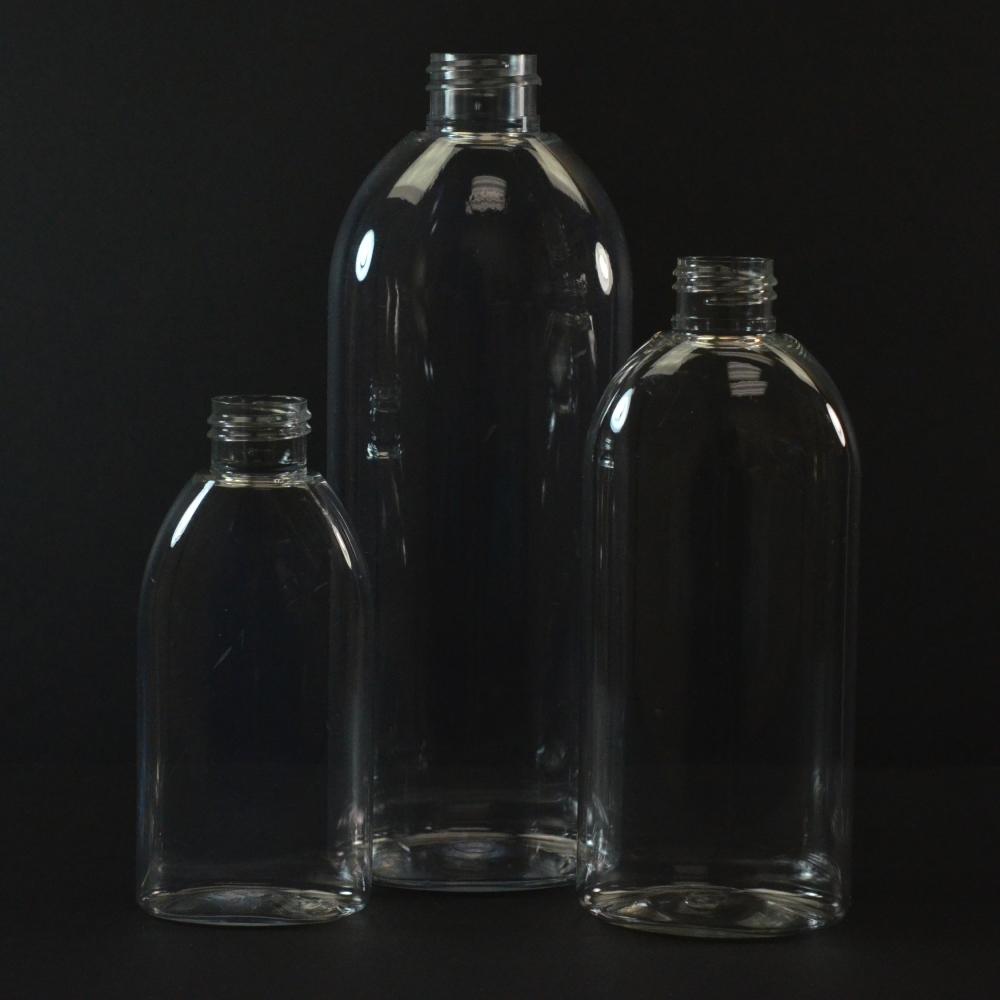 8 oz 24/410 Capri Oval Clear PET Bottle