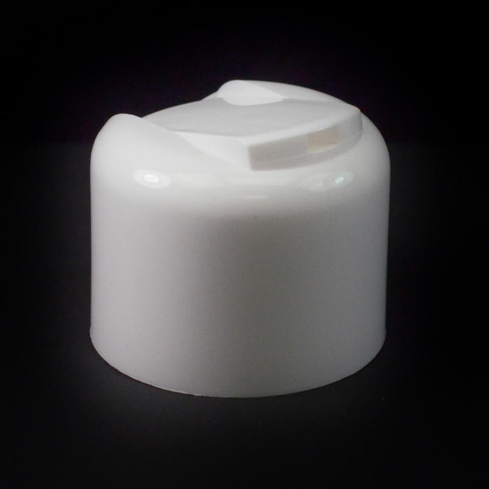 24/410 Smooth White Presstop Symmetrical Dispensing Cap PP to 8 oz