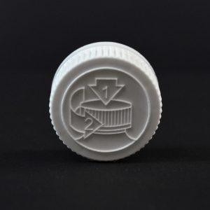 Plastic Cap 24mm CRC Pictorial White PP_2030