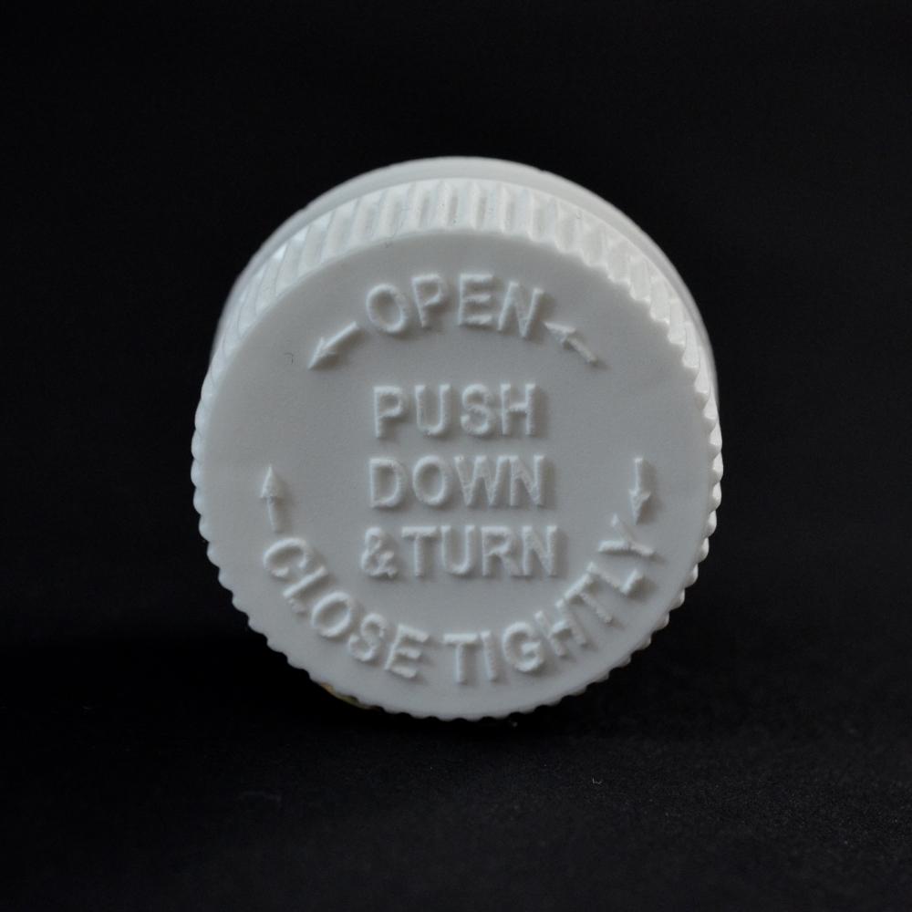 28/400 White Child Resistant PDT PP Cap / PS Liner