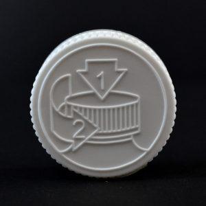 Plastic Cap 38mm CRC Pictorial White PP_2044