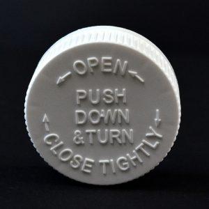 Plastic Cap 45mm CRC PDT White PP_2049