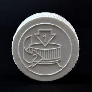 Plastic Cap 45mm CRC Pictorial White PP_2050