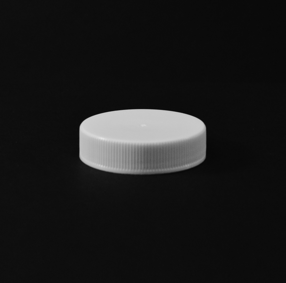 43/400 White Ribbed Straight Unlined PP Cap