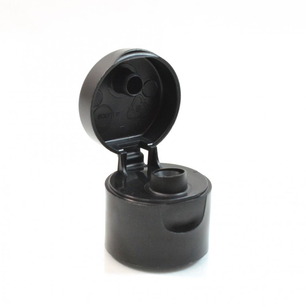 24/410 Smooth Black Snaptop Dispensing PP Cap