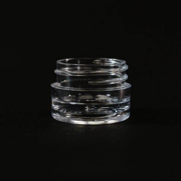 Plastic Jar 0.125 oz. Thick Wall Straight Base Clear PS 33-400_1433