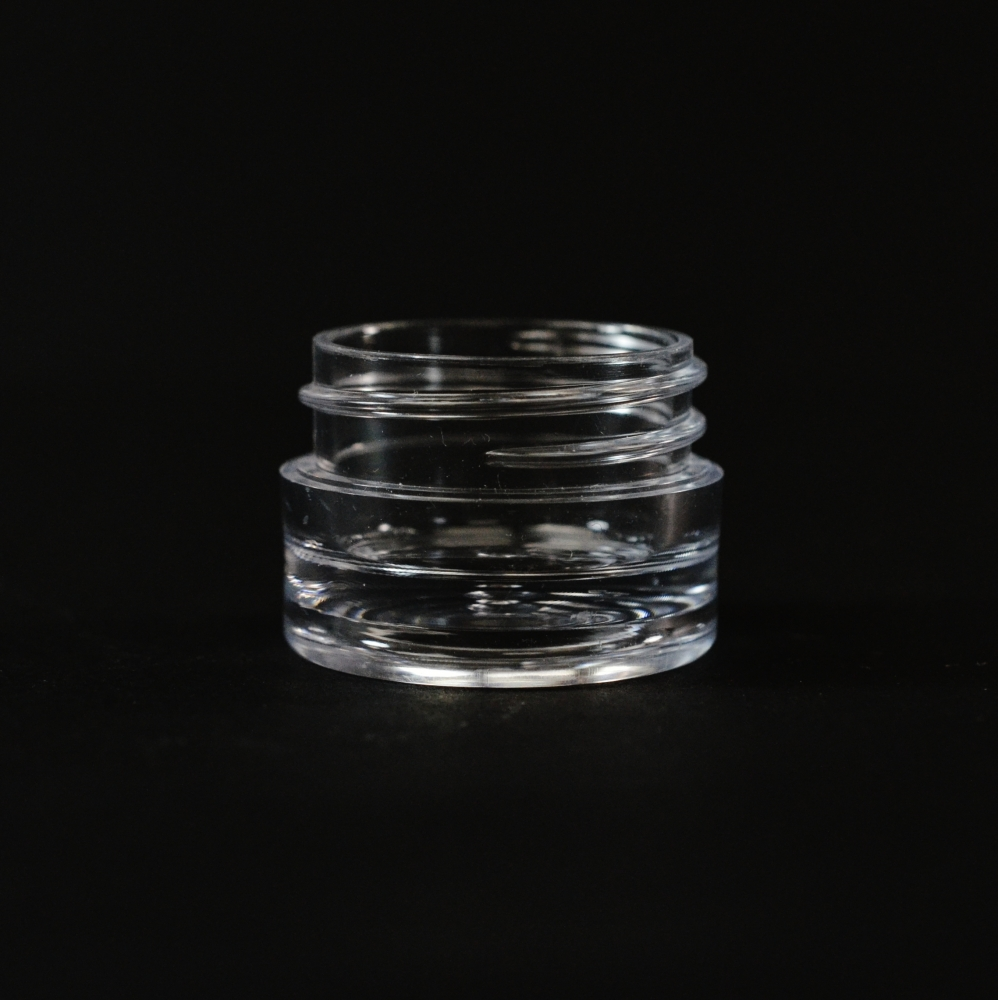 1/8 oz 33/400 Clear Thick Wall Straight Base PS Jar